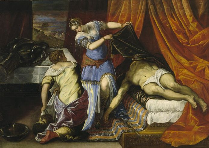 Tintoretto, Jacopo Robusti: Judith and Holofernes. Fine Art Print.  (001994)